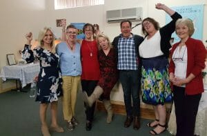 This is an image of a group of attendees at one of Val Hood's Mediumship Workshops